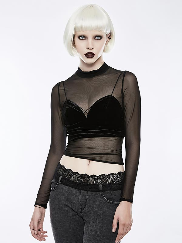 Gothic Cute Little Velvet Camisole