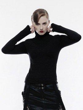 Punk High V-Shape Collar Top