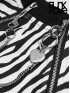 Daily Life Zebra Print Crop Jacket