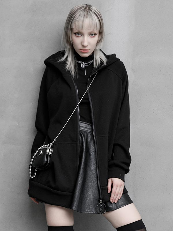 Daily Life Original 'Dark Rabbit' Black Hoodie Jacket