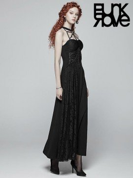 Gothic Cobweb Halterneck Dress