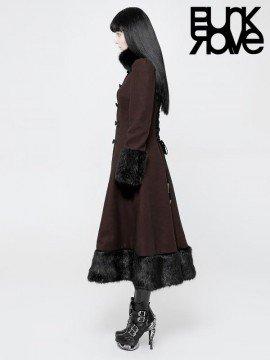 Elegant Gothic Red Princess Coat
