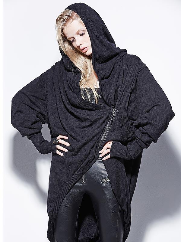 Asymmetrical Long Sweater Hoodie