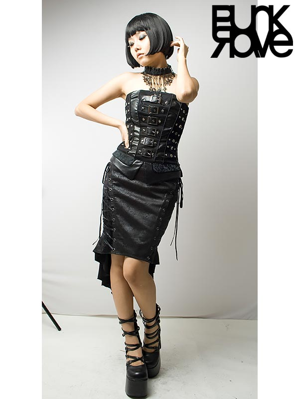 51b2683a36a Punk Rave Australia Q-122BK Ladies Gothic Mermaid Fishtail Skirt