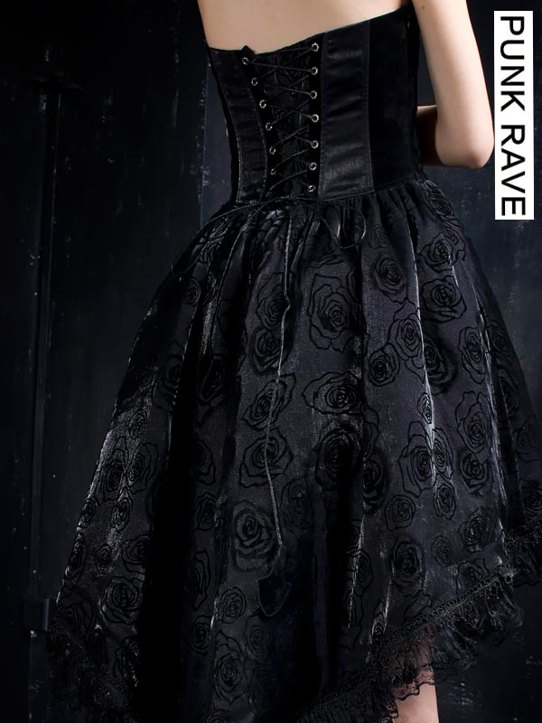 17ca0c7ab23 Punk Rave Australia Q-134 Ladies Gothic Rose Flocking Dovetail ...