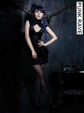 Sexy Gothic Cheongsam Dress