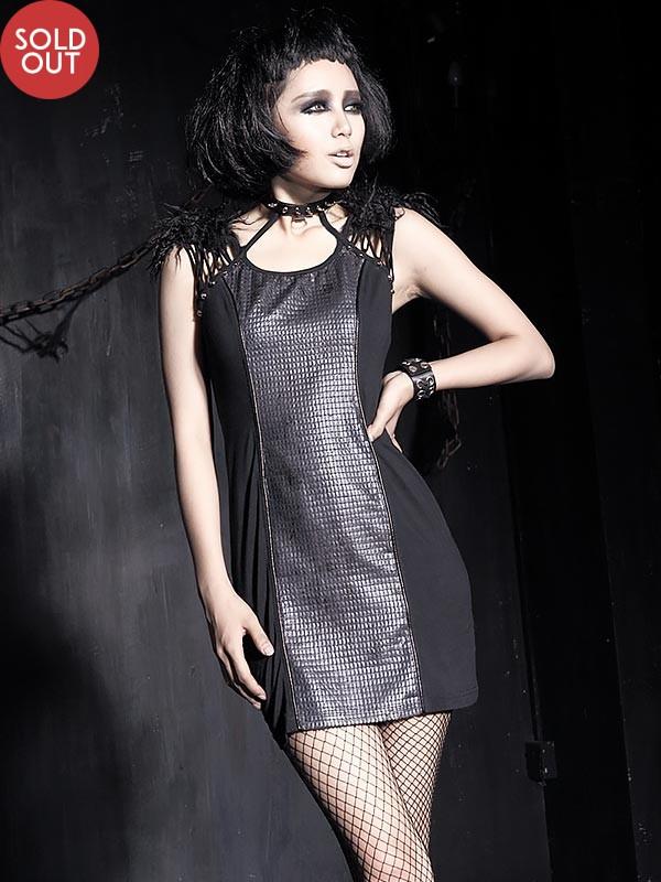 Gothic Diamond Leather Dress