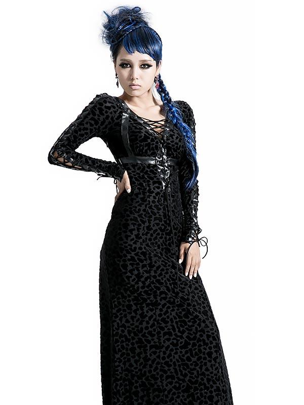 Gothic Punk Wildness Long Dress