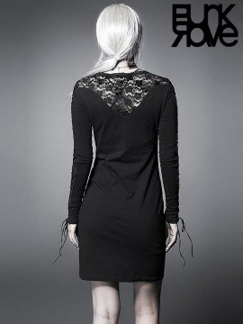 Sexy Gothic Lace String Dress