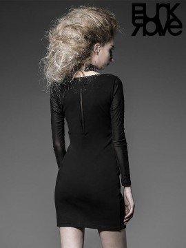Gothic Palace Court Black Knit Dress