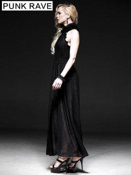 Gothic Sleeveless Chiffon Lace Dress