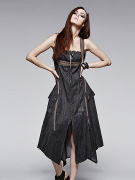 Punk Vintage Denim Dress
