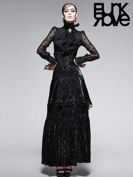 Gothic High Waist Luxurious Long Skirt