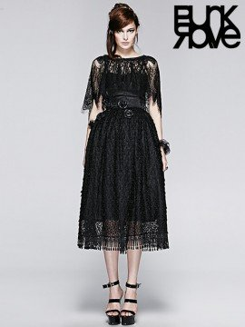 Gothic Palace Peacock Feathers Dress