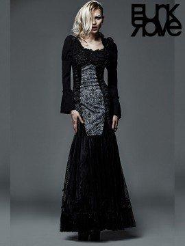 Gothic High Waist Fishtail Long Skirt