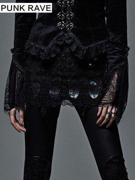 Gothic Palace Embroidery Fringe Short Skirt