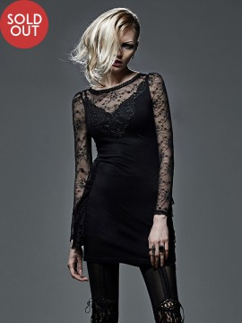 Sexy Gothic Black Lace Party Dress