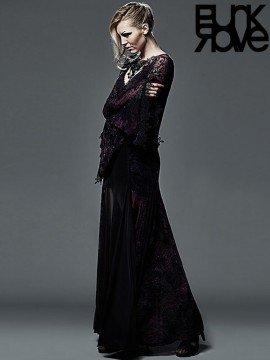 Dark Violet Gothic Long Dress