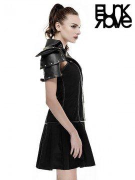 Gothic Military Warrior Dress - Black