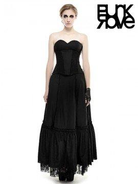 Gothic Strapless Linen Dress