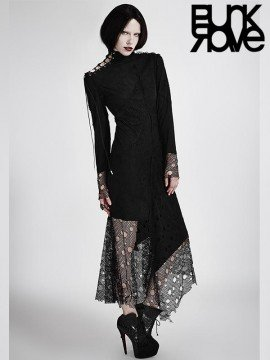 Gothic Mesh Long Dress