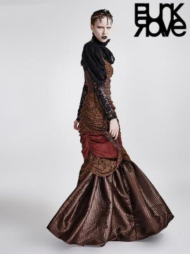 Steampunk Halterneck Long Dress