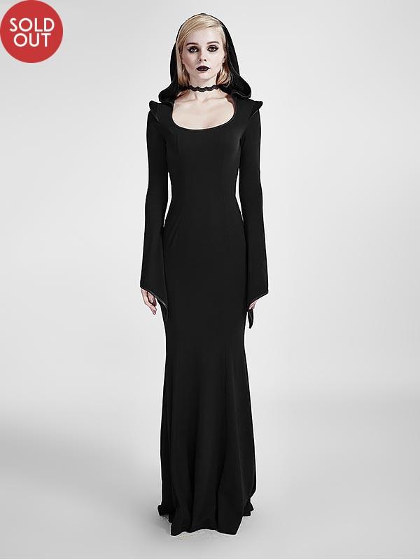 Gothic High Priestess Dress with Hood