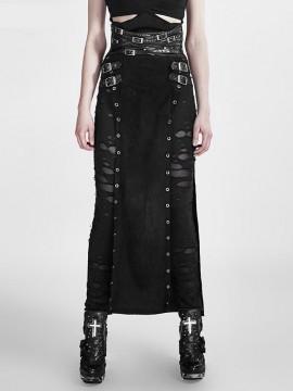 Punk Warrior Woman Long Skirt