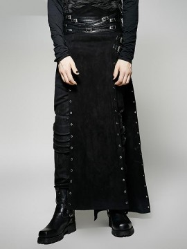 Punk Warrior Man Long Skirt