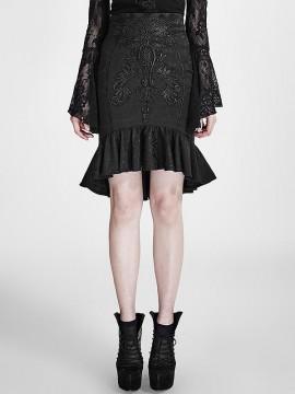 Gothic Vintage Palace Fishtail Skirt