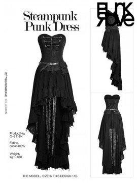 Steampunk Strapless Dress - Black