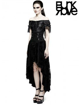 Gothic Flowers Decadent Half Skirt