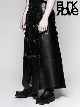 Mens Punk Warrior Six Piece Leather Kilt