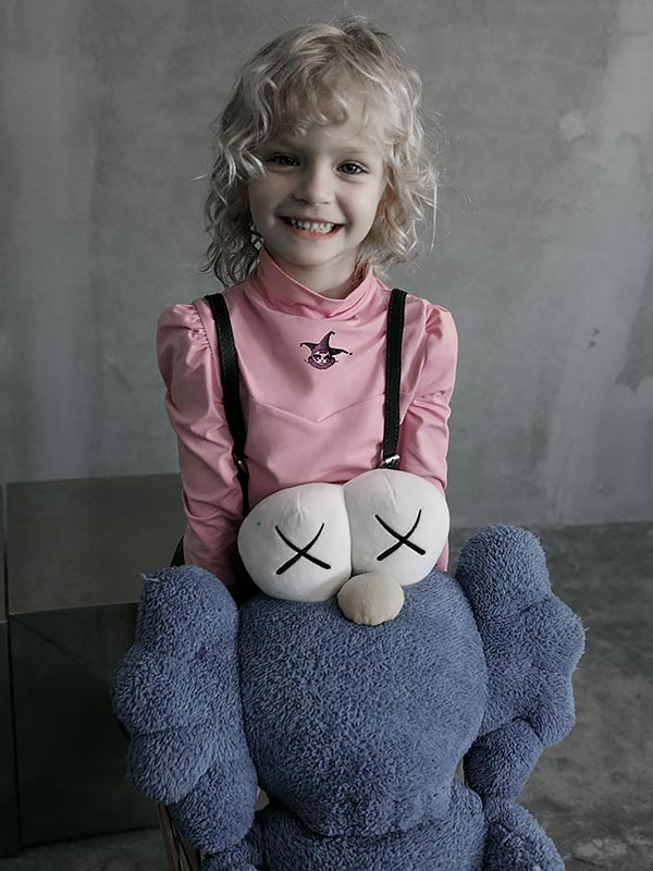 'Magic Doll' Clown Print Top - Pink