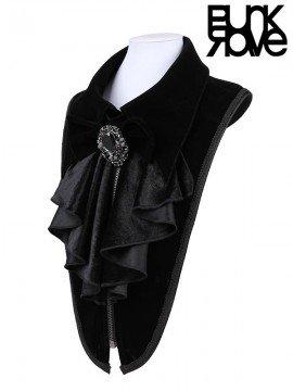 Mens Gothic Velvet & Pendent Necktie Collar