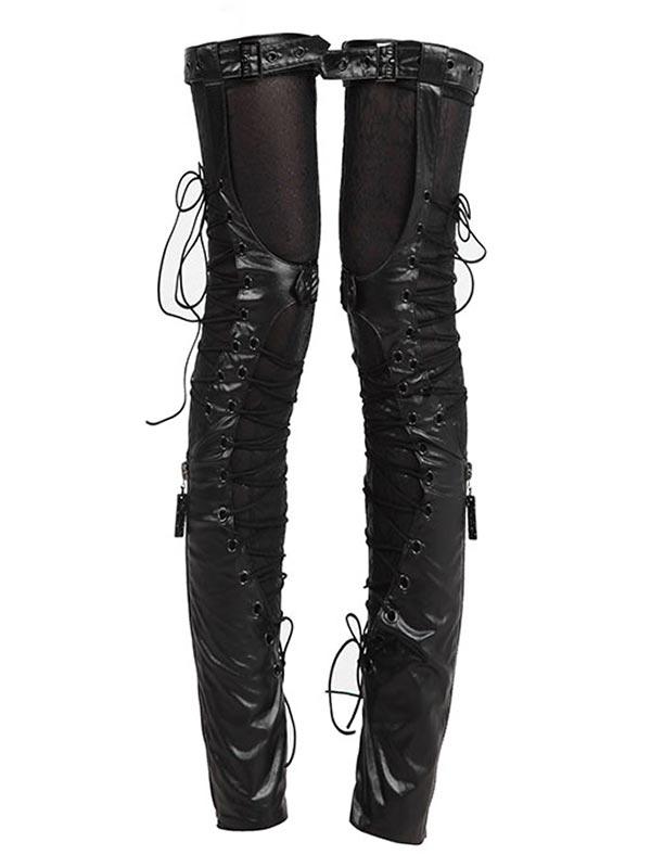 e65762a622927 Punk Rave Australia S-137 Ladies Punk Leather & Snake Print Lace Up ...