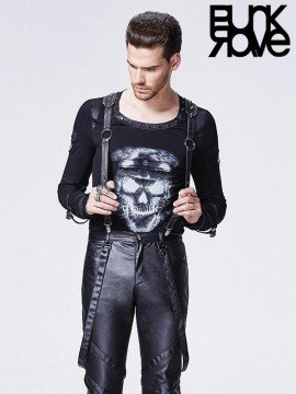 Mens Punk Spiked Rivet Suspender Belt