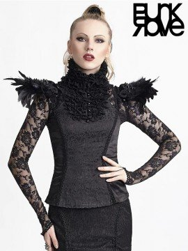 Multi-Functional Gothic Feather & Spiked Rivets Shoulder Epaulettes