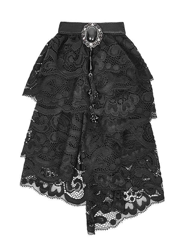 Mens Gothic Victorian Lace Necktie