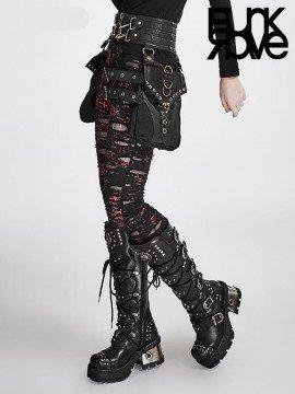 Steampunk Black Leather Hipster Saddlebag