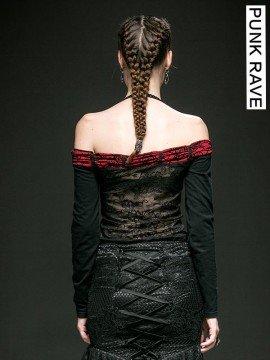 Gothic Off The Shoulder Halterneck Top