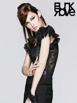 Decadent Gothic Lace Top