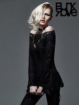 Luxurious Strapless Gothic Rose Lace Top