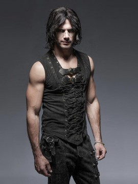 Mens Steampunk Sleeveless Vest