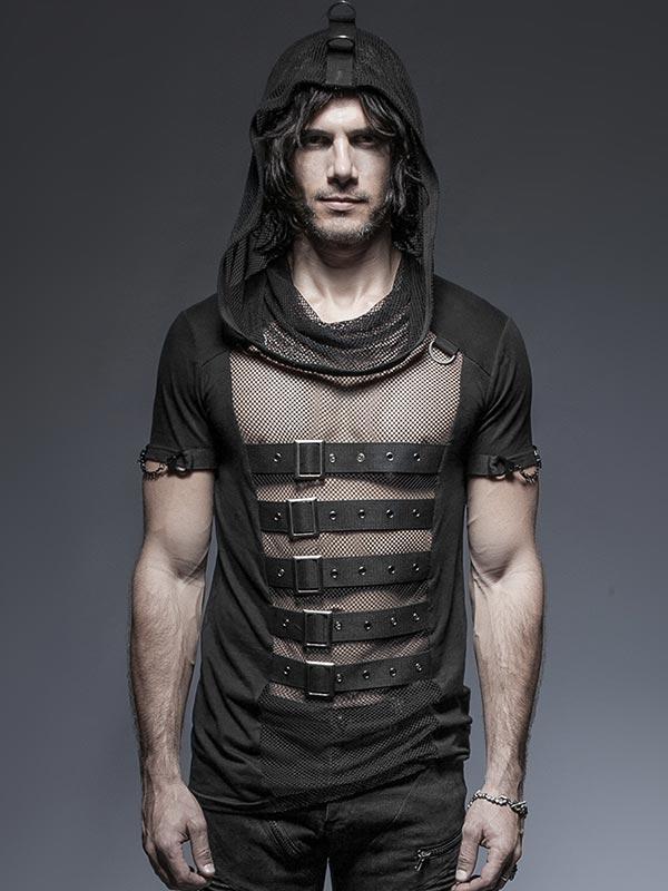 Mens Hooded Mesh T-Shirt