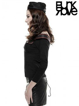 Ladies 50's Style Military Long Sleeve T-Shirt