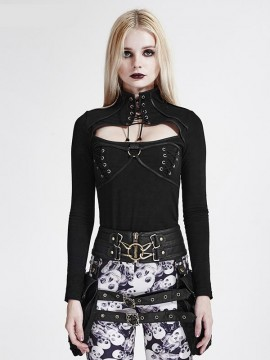 Steampunk Cross Rope Long Sleeve Top