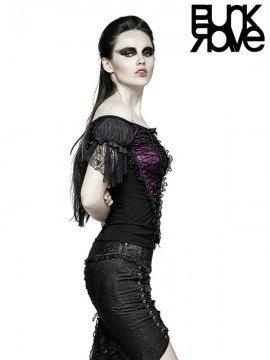 Gothic Drawstring Bandage Top - Violet