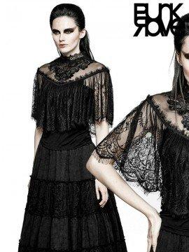 Gothic Lace Shrug Shawl T-Shirt