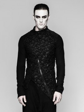 Mens Decadent Heavy Punk Long Sleeve Black T-Shirt